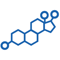 Hormones icon for the Premier Cancer Alliance showing estrogen as a factor that affects cancer risk