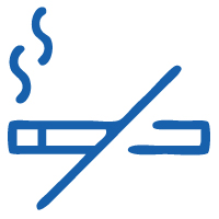 Smoking icon for the Premier Cancer Alliance showing tobacco use as a factor that increases cancer risk