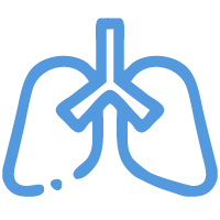 Lung scan icon from Premier Diagnostic Imaging in Cookeville, Tennessee