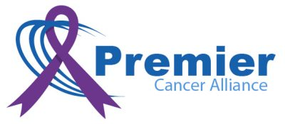Premier Cancer Alliance logo with purple ribbon brought to you by Premier Diagnostic Imaging in Cookeville, Tennessee