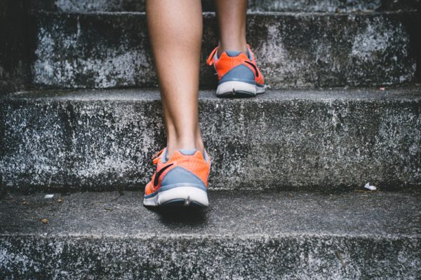 premier cancer alliance metaphor of going up steps to start your workout