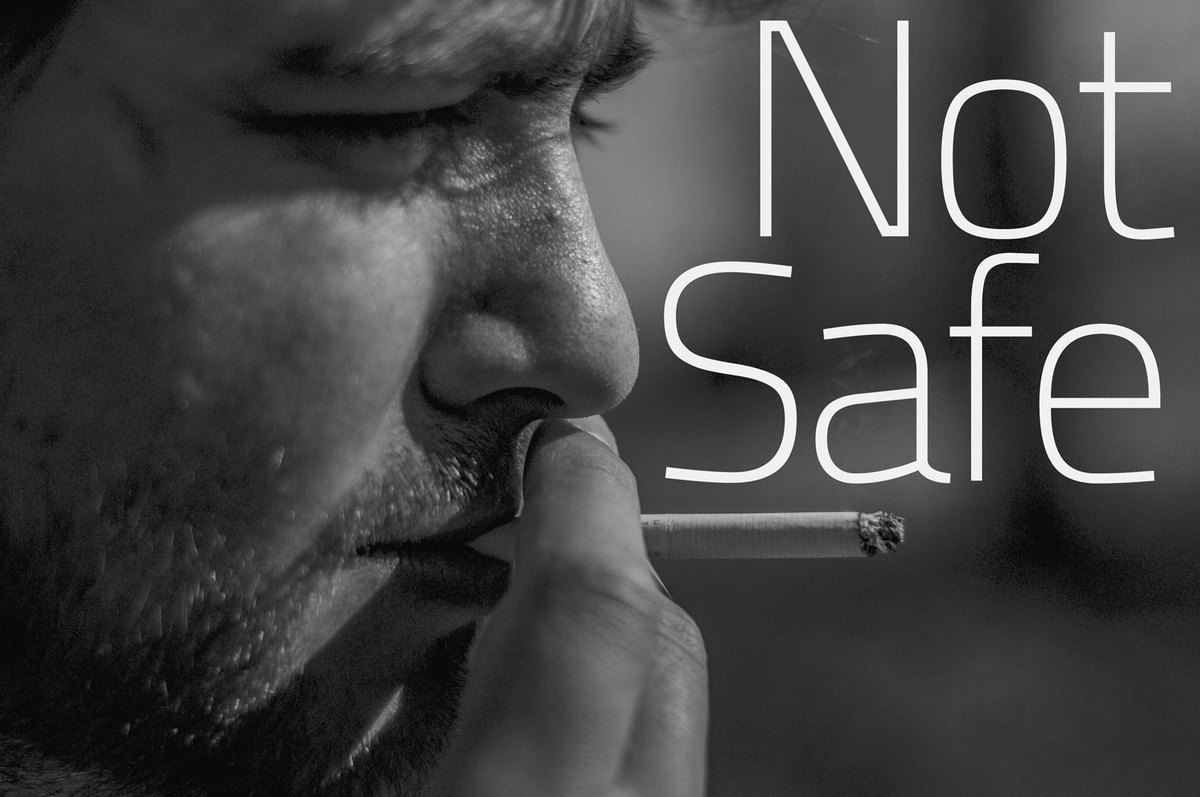 Touching fingers to lips while smoking increases risk of coronavirus infection
